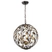 Crystorama Broche 6 Light Candle Chandelier