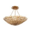 Crystorama Broche 8 Light Semi Flush Mount