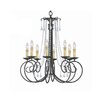 Soho 8 Light Crystal Candle Chandelier