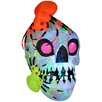 Gemmy Industries Light Show Skull with Spiders - Kaleidoscope Halloween Decoration