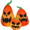 Gemmy Industries Scary Jack-O-Lantern Trio Halloween Decoration