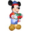 Gemmy Industries Mickey with Present Christmas Decoration