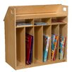 Wood Designs Birch Book Display with Storage