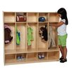 Wood Designs 5-Section Offset Seat Locker