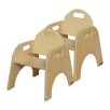 """Wood Designs Woodie 9"""" Plywood Classroom Stackable Tot Chair (Set of 2)"""