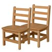 "Wood Designs 11"" Wood Classroom Glides Chair (Set of 2)"