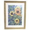 <strong>Alpine Art and Mirror</strong> Premier Sunflowers Framed Painting Print