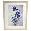<strong>Premier Blue Irises Framed Graphic Art</strong> by Alpine Art and Mirror