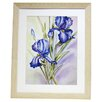 <strong>Alpine Art and Mirror</strong> Premier Large Blue Irises Framed Graphic Art