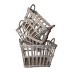 <strong>French 3 Piece Rectangular Basket Set</strong> by White x White