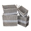 White x White Swedish 4 Piece Storage Basket Set