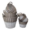 White x White Swedish 6 Piece Utility Basket Set