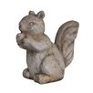 White x White Terracotta Nuts the Squirrel Statue