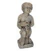 White x White Child with Jug Statue