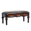 Comfort Pointe Edward Leather Carved Entryway Bench
