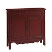 Coast to Coast Imports LLC Vintage Jelly 2 Drawer 2 Door Cabinet