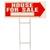 "<strong>Hy-Ko</strong> 10"" x 24"" House for Sale Sign"