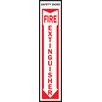 "Hy-Ko 4"" x 8"" Fire Extinguisher Sign (Set of 10)"
