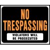 "Hy-Ko 15"" x 19"" Plastic No Trespassing Sign (Set of 5)"