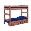 Chelsea Home Twin Over Twin Standard Bunk Bed with Storage