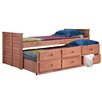 Chelsea Home Twin Captain Bed with Trundle Unit