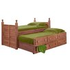 Chelsea Home Twin Panel Bed with 3 Drawers and Trundle Unit