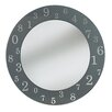 Pharmore Ltd Engraved Round Mirror