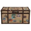 HGTV Home Khaki Travel Cocktail Trunk