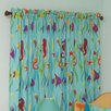 <strong>Room Magic</strong> Tropical Seas Cotton Rod Pocket Curtain Panel (Set of 2)