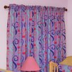 Room Magic Little Girl Tea Set Cotton Rod Pocket Curtain Panels (Set of 2)
