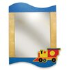 Room Magic Boys Like Trucks Rectangular Dresser Mirror