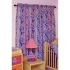 Little Girl Tea Set Cotton Rod Pocket Curtain Panel