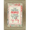 Artistic Reflections 'The More People I Meet, The More I Like My Cat' Framed Textual Art