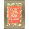 Artistic Reflections 'Every Time a Child is Born So is a Grandmother' Framed Textual Art