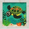 Artistic Reflections Terrance Turtle Framed Graphic Art