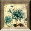 Artistic Reflections Blue Botanical II Framed Graphic Art