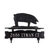 <strong>One Line Lawn Sign with Pig</strong> by Montague Metal Products Inc.