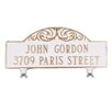 Montague Metal Products Inc. Mailbox Sign with Decorative Scroll