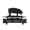 <strong>One Line Mailbox Sign with Pig</strong> by Montague Metal Products Inc.