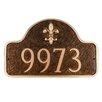 Montague Metal Products Inc. Petite Fleur de Lis One Line Arch Address Plaque