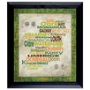 American Coin Treasures Luck Of The Irish Wall Framed Textual Art with Coins in Black