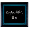 American Coin Treasures Theory Wall Framed Textual Art with Stamps in Black