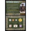 American Coin Treasures World War I Coin and Stamp Collection Wall Framed Memorabilia