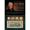 <strong>American Coin Treasures</strong> Many Faces of Thomas Jefferson Coin and Currency Wall Framed Memorabilia