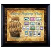 <strong>American Coin Treasures</strong> Ships on Stamps Wall Framed Vintage Advertisement in Black