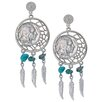 <strong>Dream Catcher Buffalo Nickel Post Earrings</strong> by American Coin Treasures