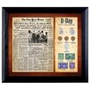 <strong>American Coin Treasures</strong> New York Times D Day Framed Memorabilia