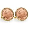American Coin Treasures Union Shield Bezel Rope Cufflinks