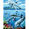<strong>Painting by Numbers Small Dolphins Junior Set</strong> by Royal & Langnickel