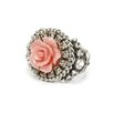 Sweet Romance Carved Rose Ring